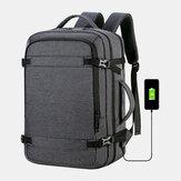 Hombres Poliéster 15.6 Inch Carga USB Anti robo Business Laptop Bolsa Mochila