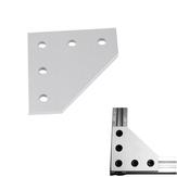 Ranura en V Heavy Tipo 90 ° Joint Placa Aluminio T4 * 60 * 60mm M5 Hilo para impresora 3D