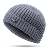 Men Women Winter Windproof Warm Knit Beanie Cap Outdoor Slouch Skullcap