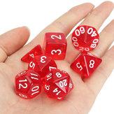 42 Pcs Polyhedral Board RPG MTG Dice Sets 6 cores 4D 6D 8D 10D 12D 20D com 6 bolsas