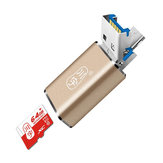 Kawau Metal Micro USB OTG USB 3.0 TF Flash Memory Card Reader for Samsung Xiaomi Huawei