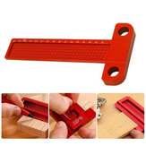 Aluminium Alloy T-160 Hole Positioning Metric Measuring Ruler Woodworking T-Squares Marking Ruler For Carpenter