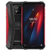 Ulefone Armor 8 IP68 IP69K Étanche 6,1 pouces 4 Go 64GB 16MP Triple caméra arrière NFC 5580mAh Helio P60 Octa Core 4G Smartphone robuste