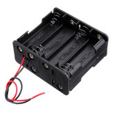 5pcs 4 Slots NO.5 Battery Holder Plastic Case Storage Box for 4*NO.5 Battery
