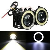 Universele 2.5 Inch COB LED Mistlampen Witte Angel Eyes Halo Ring Dagrijverlichting DRL-projectorlamp 30W