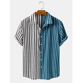 Ανδρικά πουκάμισα με ρίγες και πουκάμισα με κοντό μανίκι