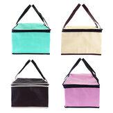 ジッパーケーキピクニックランチバッグと再利用可能な食料品の袋が付いている10インチの不織布新鮮な保持トートバッグ