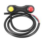 22mm 3 Düğmeler 7 Teller Alüminyum Alaşım Motosiklet Motosiklet LED Sis Işık Gidon Anahtarı