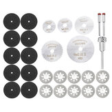 30pcs Mini Circular Saw Blade Set Diamond Cutting Discs Rotary Tool Accessories for Wood Plastic