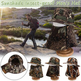 Mens Cotton Face Protection Bucket Hat Outdoor Fishing Hat Climbing Mesh Breathable Sunshade Cap