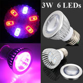 3W E27 4 Red 2 Blue Grow LED Convex Mirror Bulb Greenhouse Plant Seedling Growth Light