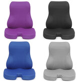 Sit And Lean Memory Foam Lumbar Back Support Pillow Seat Cushion Support Back Pillow Backrest for Office Chair Car Seat