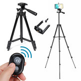 Portable Long Tripod Camera Stand Rotatable bluetooth Remote Control DSLR Camera Tripod Kit Gift Phone Holder for Photography Cell Phone