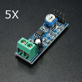 5Pcs LM386 Audio Amplifier Module 200 Times Input 10K Adjustable Resistance