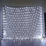 1.5x1.5m IP65 LED Gordijn Fairy Holiday String Light Kerstverlichting Feest Bruiloft Decor EU Plug AC220V