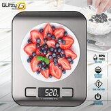 5 / 10kg Digitale multifunktionale Lebensmittelküchenwaage Edelstahl Fingerabdrucksichere Oberfläche mit LCD Display Backwaage zum Kochen Backen