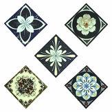 10 Teile / satz Nachtleuchtende Bodenfliesen Diagonale Aufkleber Selbstklebende Abziehbilder Wanddekor Wasserdicht PVC