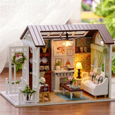 Cuteroom Forest Times Kits Wood Dollhouse Miniatura DIY House Handicraft Toy Idea Gift Happy times