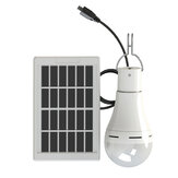 20 W Solar Power USB Genopladeligt Camping Light Bulb 5-Modes W / Solar Panel 3m Cable