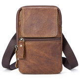 Echte lederen casual vintage single-shoulder crossbody tas voor mannen
