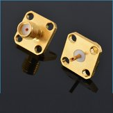 SMA-KFD 5mm Flange Conector SMA Female 4 Hole Square Plate Straight For Coaxial Cable RC Drone