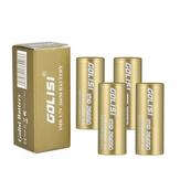 4PCS GOLISI S43 IMR26650 4300mah 35A Geschützter wiederaufladbarer Plattenkopf mit hohem Abfluss 26650 Batterie