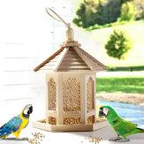Wooden Bird House Feeder Frame Bird Cage Net for Feeding Tool