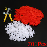 500Pcs Clips + 200Pcs Wedges Fliesenleger System Spacer + Zangen