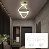 AC85-265V modern LED mennyezeti lámpa kettős gyűrűs csillárok berendezése nappali medál fény