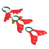 Christmas Reindeer Deer Antlers Headbrand Hair Band Xmas Fancy Dress Accessories
