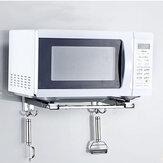 304ステンレス鋼の電子レンジラックストレージ壁マウント配置伸縮ブラケットキッチンカウンター用