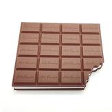 Autocollants au chocolat livre biscuits au chocolat créatifs forme mémo autocollant Pad Note laitière cahier pour fournitures de bureau