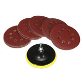 50pcs 125mm Sanding Disc Sandpaper with Backing Pads Grinder Sanders Drill Adaptor Polishing Pad