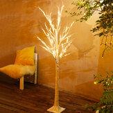 90 cm de altura LED Luz de árvore de vidoeiro 60LEDs USB operada com interruptor LED Decoração de luz de paisagem para festa em casa Luz de Natal