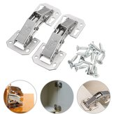 2pcs Cabinet Bridge Hinge Cupboard Door Hinge