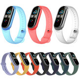 Bakeey Pure Color Transparent Watch Band Watch Strap Replacement for Xiaomi Miband 5 Mi Band 5