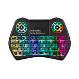 I9 Plus Mini 2.4GHz Keyboard Colorful Backlight Fly Air Mouse Wireless Keyboard With Touchpad Remote Control Work For Android TV