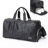 Men Large Leather Travel Gym Bag Duffle Storage Pouch Handbag Shoes Organizer