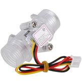 G1 / 2inch DN15 Medidor de fluxo de água transparente Medidor de fluxo Hall Flow Sensor Indicator Counter