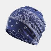 女性の綿多目的印刷ビーニーキャップネックゲートルフェイスシールド帽子バンダナ