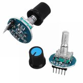 2Pcs Rotating Potentiometer Knob Cap Digital Control Receiver Decoder Module Rotary Encoder Module Geekcreit for Arduino - products that work with official Arduino boards