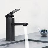 Matowy czarny kran z umywalką łazienkową Bateria zimna / gorąca Bateria jednouchwytowa