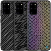 NILLKIN Luxury Luster Twinkle Shield Woven Polyester + PU Leather Hard Back Protective Case for Samsung Galaxy S20+ / Galaxy S20 Plus 5G 2020