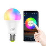 AC85-265V E27 E26 B22 7W RGBCW WiFi ampoule intelligente commande vocale dimmable LED Globe Light fonctionne avec Alexa Google