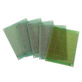5 pcs 5x7 cm 5 * 7 Protótipo Único Lado PCB DIY Circuito Impresso Universal Placa PCB Fibra de Vidro Placa Universal Verde Óleo Protoboard Epóxi