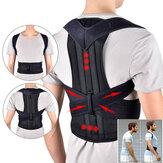 1 Pcs 102 cm Suporte para as costas ajustável Cinto Corretor de postura para as costas Ombro Suporte para a coluna lombar Protetor para as costas Tamanho L