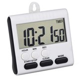 Loskii KC-11 Big Screen Magnetic Alarm Digital Kitchen Timer 24 Hours Clock Timer with Stand
