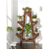 Wielowarstwowy stojak na rośliny z litego drewna Dekoracyjny stojak na kwiaty do półki do przechowywania wewnątrz i na zewnątrz