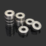 Machifit 10pcs 6x17x6mm 606zz Aço Selado Blindado Deep Groove Ball Bearing