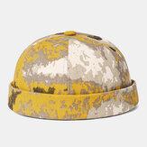 Collrown Erkek Ev Sahibi Şapka Yaz Sokak Trendleri Kavun Şapkası Vintage Brimless Şapkas